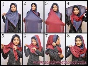 Gambar Cara Menggunakan Jilbab Modern